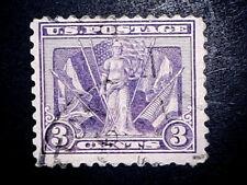 US 537b 3 Cent Victory Issue  Lt Reddish Violet  LC VF Used   ScCV  $50