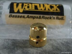 WARWICK GOLD KNOB FOR STACKED POTS TONE VOLUME THUMB STREAMER BASS PARTS