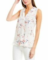 Vince Camuto Women Tank Floral Print Top | Size - Large | Color - White
