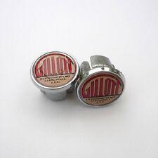 Vintage Style, Gillott, Camberwell, London, Chrome Racing Bar Plugs, Caps, Repro