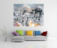 Star WARS AT-AT Bataille de Hoth GIANT WALL ART Photo Imprimé Poster G59