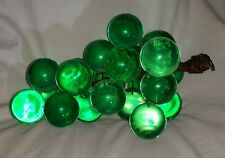 Vintage Mid Century Lucite Acrylic Grape Cluster Large Aqua Green Grapes!