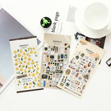 Paper Stickers book Stationery Bullet Journal Japanese Style Laptop Diary Gift