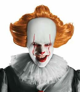 Pennywise Wig It Movie Scary Clown Fancy Dress Halloween Adult Costume Accessory