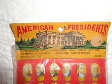 Vintage American 36 Presidents Pencil Toppers Set Unopened in Original Pack, Toy