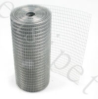 "Welded Wire Mesh 1"" x 1/2"" x 30m 3 widths Aviary Hutches Fencing Pet Run Coop"