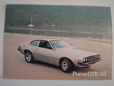 PUMA GTB S2 Sports Car orig c1977 Sales Leaflet Brochure in English - 4100cc