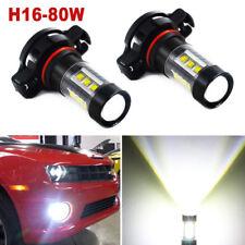 5202 H16 LED Fog Light Bulbs for 2007-2015 Chevy Silverado 1500 White 6000K 80W
