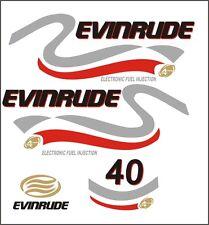 Adesivi motore marino fuoribordo Evinrude 40 hp 4 t four stroke nautica barca