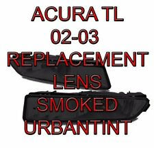 02 03 ACURA TL type S SMOKED Fog Light Lens replacement foglight lenses A PAIR