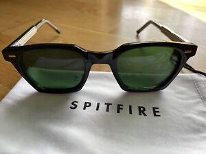 Spitfire England Eyewear BC2 Cat 4 Black Sunglasses Shades Full Plastic Frame