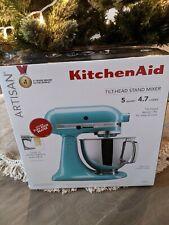 NEW KitchenAid Artisan 5qt Tilt-Head Stand Mixer - Aqua Sky - bonus Flex Beater!