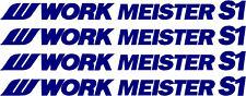WORK MEISTER S1 Wheel Rim Decal Stickers x 4 pcs.