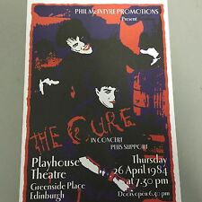 CURE - CONCERT POSTER EDINBURGH PLAYHOUSE 26TH APRIL 1984   (A3 SIZE)