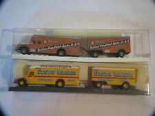 TWO VINTAGE BREKINA GERMANY TRUCKS AND TRAILERS IN PKG
