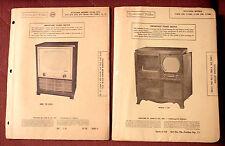4 diff Photofact Folders - Television repair - Sylvania - many models