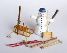 Plus Model Winter Set Ski Schneemann Schlitten 1:35 Art. 255
