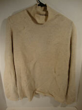 Avon Celli For Bergdorf Goodman Beige Turtleneck Sweater Knit Design