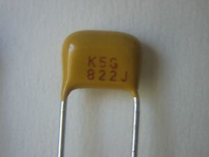 8200pF 5% 50V C0G/NP0 Radial Ceramic Caps - 10 pc lots