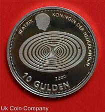 1999 2000 NETHERLANDS MILLENNIUM DUAL DATED SILVER PROOF TEN GUILDERS COIN & COA
