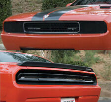 Fits 08-14 Challenger GTS Acrylic Smoke Headlight Taillight Center Covers 5pc