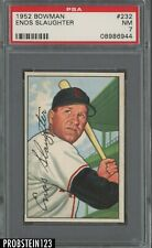1952 Bowman SETBREAK #232 Enos Slaughter St. Louis Cardinals PSA 7 NM