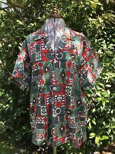 Striking  Original Vintage 80s / 90s Pure Cotton Graphic Print Shirt