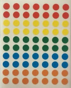 140 Small Round Coloured Sticky Dots 8mm Circles Stickers Labels Spots Planner