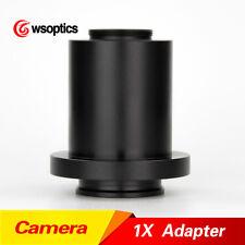 1X C-Mount CCD & CMOS Microscope Camera Adapter Coupler Cmount for Leica HC