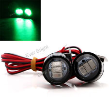 2x Green Strobe Front Fog DRL Light 3SMD 5630 LED Motorcycle Headlight Spotlight