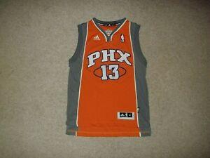 adidas sewn Steve Nash Phoenix Suns Orange #13 Youth Boy's Medium +2 Long Jersey