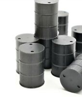 USA Plastic Steel 55 Gallon Drum - Black - HO Scale 5-pack 870838