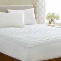 Super King Quilted Mattress Protector 30cm Extra Deep Topper Fitted Bed Cover
