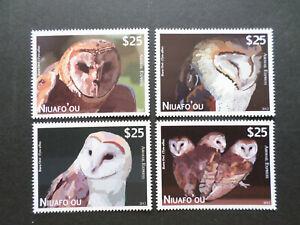 NIUAFO' OU  ( TONGA )  PA 1 / 4  NEUFS  **  HIBOUX  DE  2012  COTE  140  EUROS