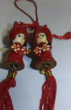 Pair Of Chinese Doll Wall Decor
