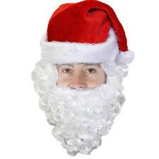Sombrero De Santa Con Barba Papá Noel Fancy Dress Costume Oficina Fiesta De Navidad