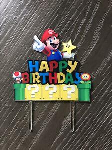 Mario Bros Birthday Cake Topper FREE SHIPPING