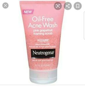 Neutrogena Oil-Free Acne Wash Pink Grapefruit Foaming Scrub 4.2 oz - 2 Pack