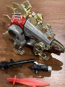 Vintage G1 Transformer Dinobot Snarl & Accessories~No Missiles 1985 Hasbro