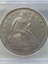 1859 O Seated Liberty Dollar MS60 Details ICG Obverse Rim Nicks