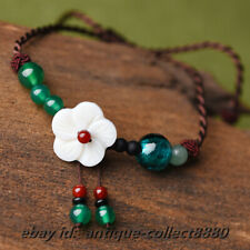 China Coloured Glaze/Green Agate/Shellfish Hand Woven Adjustable Pretty Bracelet