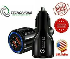 Fast Car USB Charger Quick Charge 3.0 Dual Twin Fast Charging for Samsung S9