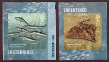 GREAT BRITAIN 2014 SUSTAINABLE FISH SELF ADHESIVE PAIR UNMOUNTED MINT, MNH