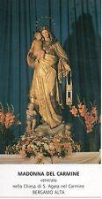 scat Madonna del Carmine  Santino Holycard