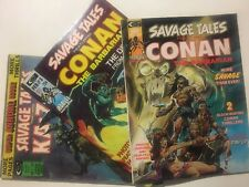 Marvel! Savage Tales 3, 4, & Annual #1! Great Looking Mags! Conan Kazar