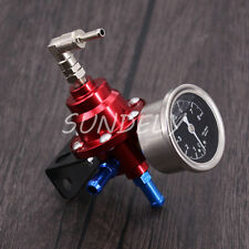 High Performance Car Pressure Gauge Adjustable Fuel Pressure Regulator Red