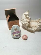 2nd Baby in Cradle Growing Up Birthday Girls Enesco Vintage Cake Topper? Ob