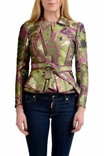 Dsquared2 Multi-Color Full Zip Belted Women's Basic Jacket US S IT 40