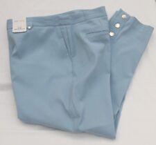 LADIES MARKS & SPENCER PER UNA CHINA BLUE SLIM ANKLE GRAZER TROUSERS SIZE 20