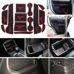 For Mitsubishi Outlander Rubber Non-slip Mat Interior Cup Pad Door Groove Mat